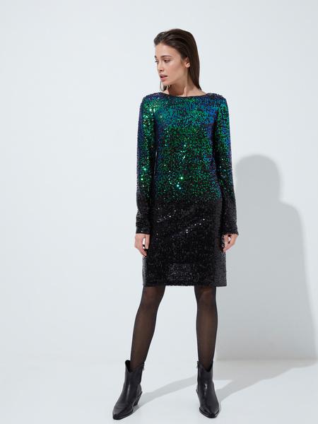 Платье с пайетками градиент - фото 4