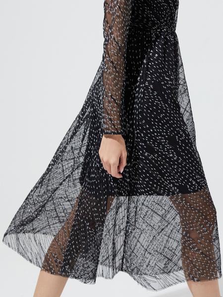 Сетчатое платье-миди - фото 2