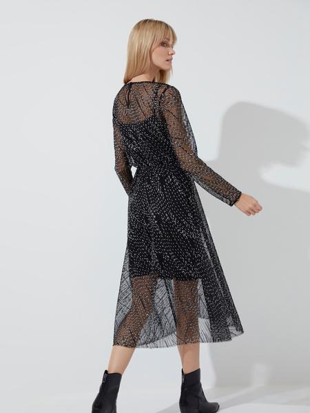Сетчатое платье-миди - фото 5