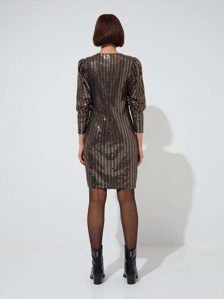 Платье-мини с рукавами фонариками - фото 6