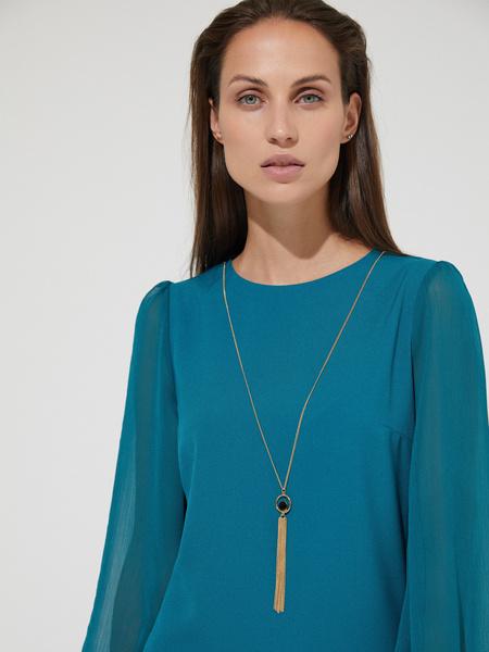 Платье-мини с подвеской - фото 2