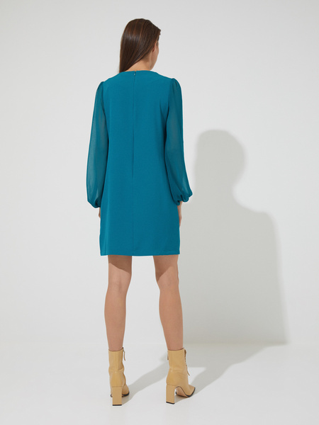 Платье-мини с подвеской - фото 5