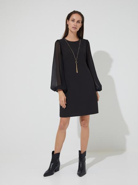 Платье-мини с подвеской - фото 1