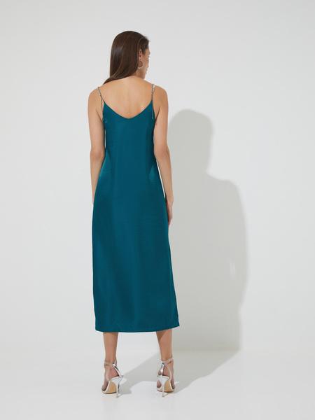 Атласное платье-комбинация - фото 5