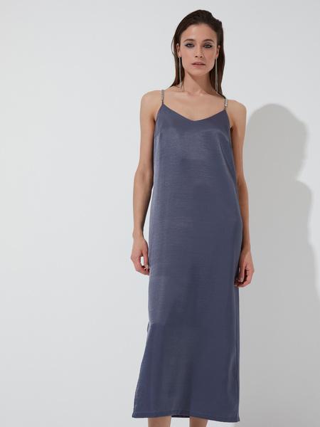 Атласное платье-комбинация - фото 1