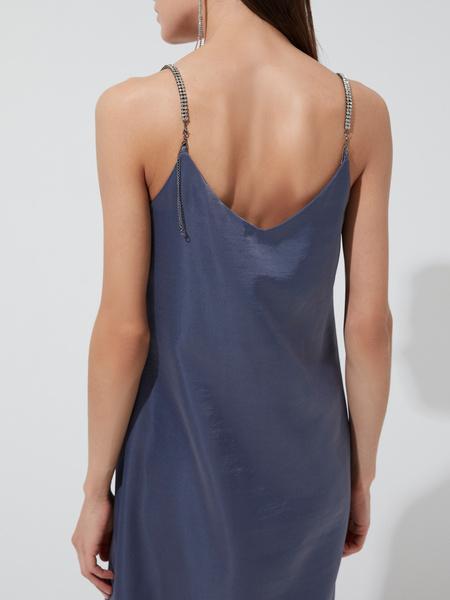 Атласное платье-комбинация - фото 4