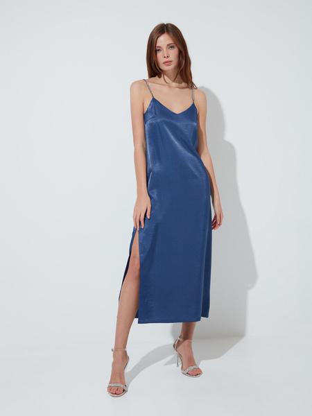 Атласное платье-комбинация - фото 3
