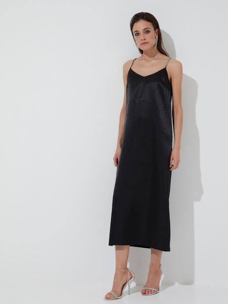 Атласное платье-комбинация - фото 2