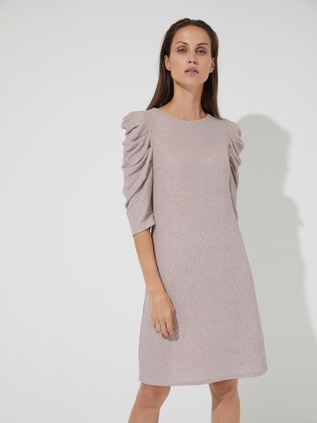 Платье-мини с напылением - фото 1