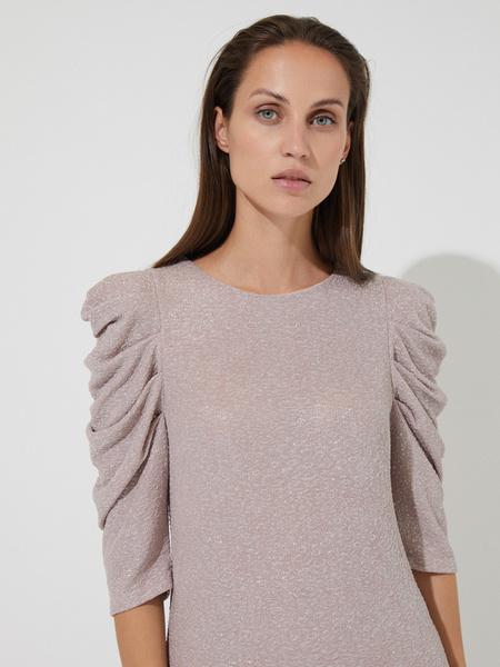 Платье-мини с напылением - фото 3
