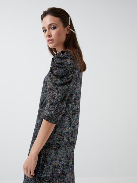 Платье-мини с напылением - фото 4