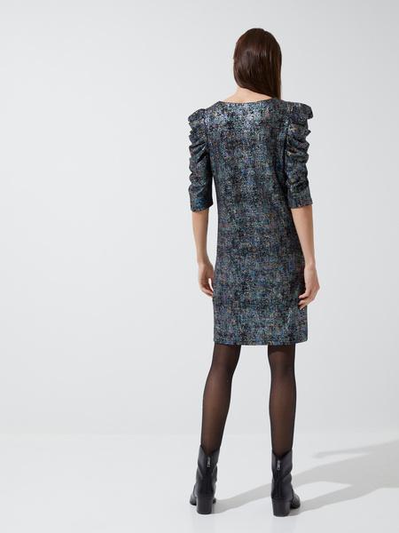 Платье-мини с напылением - фото 5