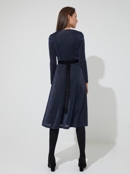 Платье-миди с поясом - фото 6