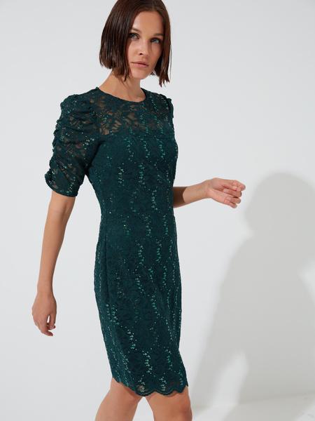 Кружевное платье-мини - фото 1