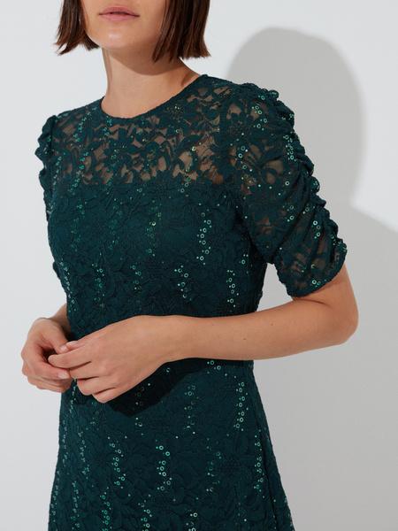 Кружевное платье-мини - фото 3