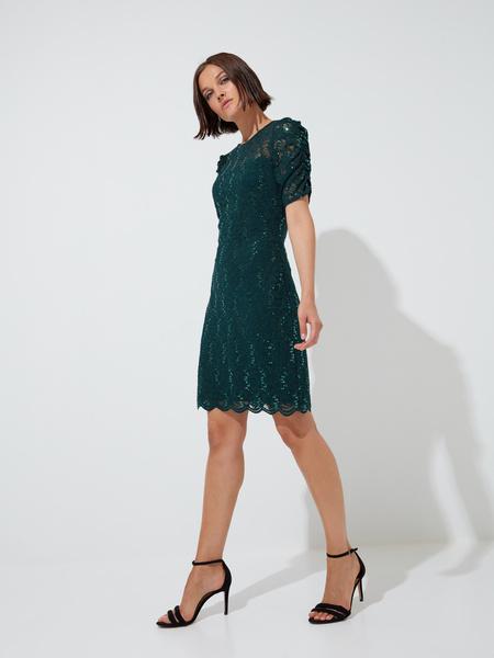 Кружевное платье-мини - фото 4