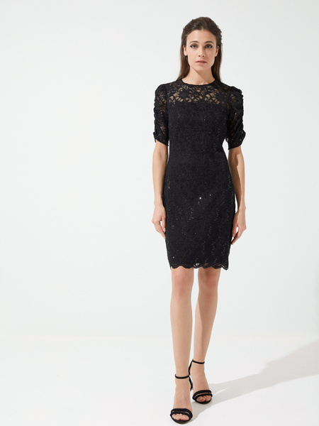 Кружевное платье-мини - фото 2