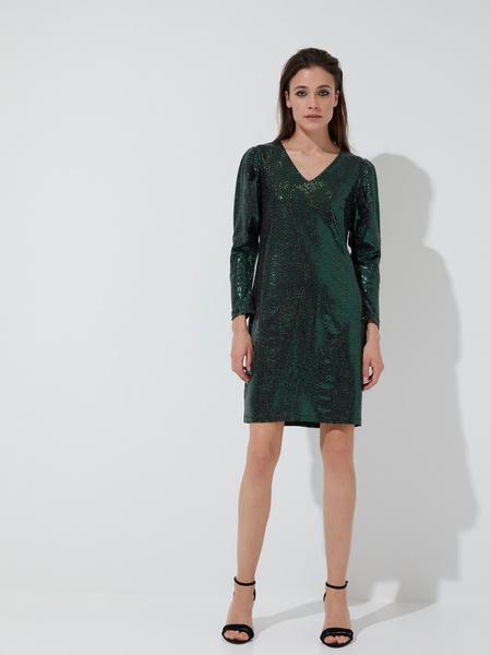 Платье-мини с V-образным вырезом - фото 3