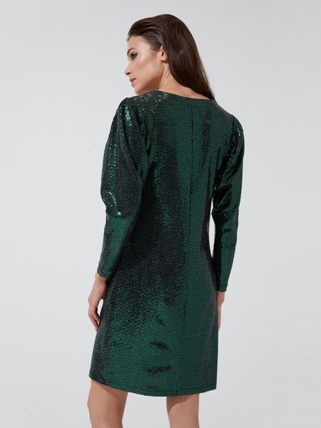 Платье-мини с V-образным вырезом - фото 4