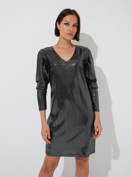 Платье-мини с V-образным вырезом - фото 1