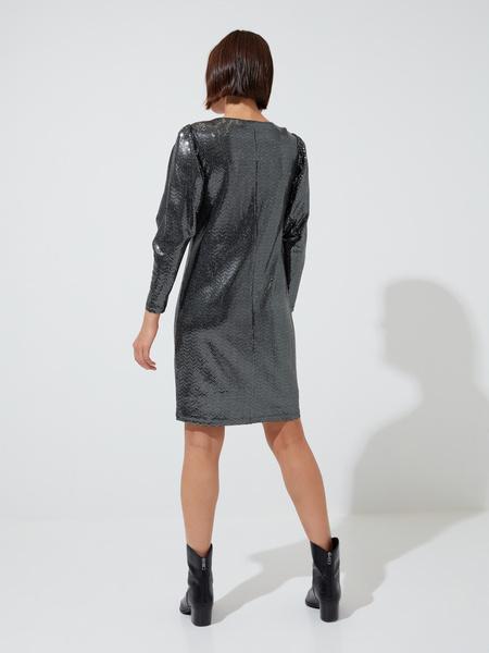 Платье-мини с V-образным вырезом - фото 5