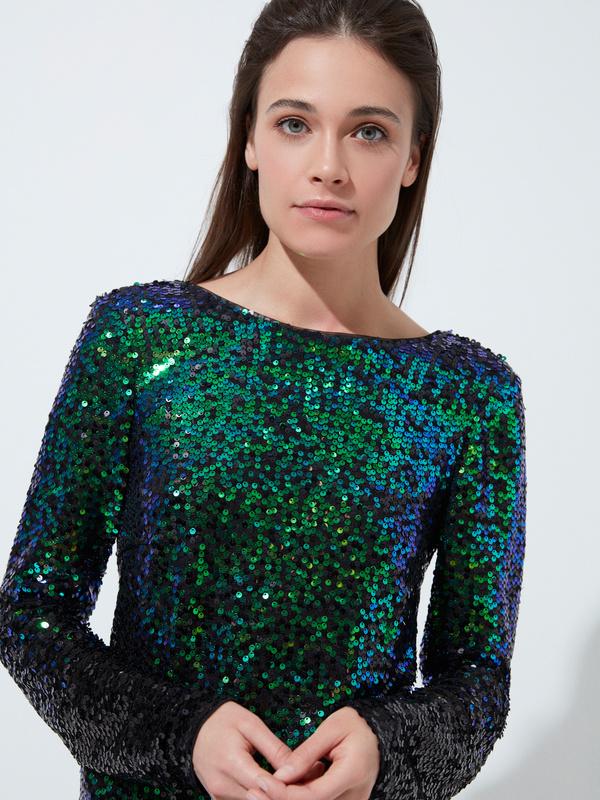 Платье с пайетками градиент - фото 2