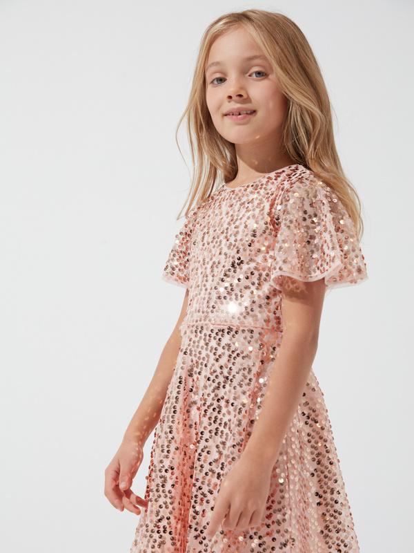Платье для девочек с пайетками - фото 1