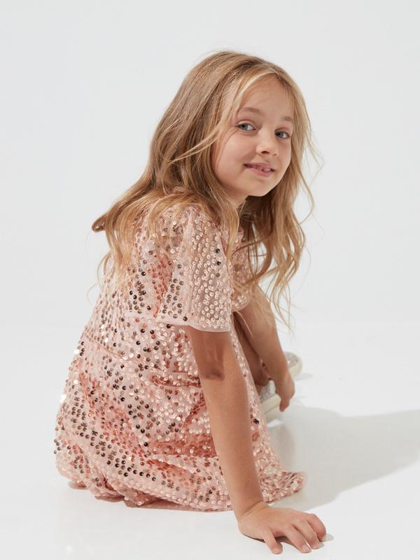 Платье для девочек с пайетками - фото 2