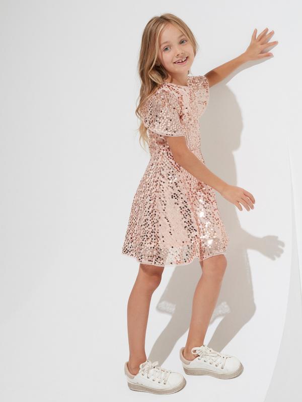 Платье для девочек с пайетками - фото 3