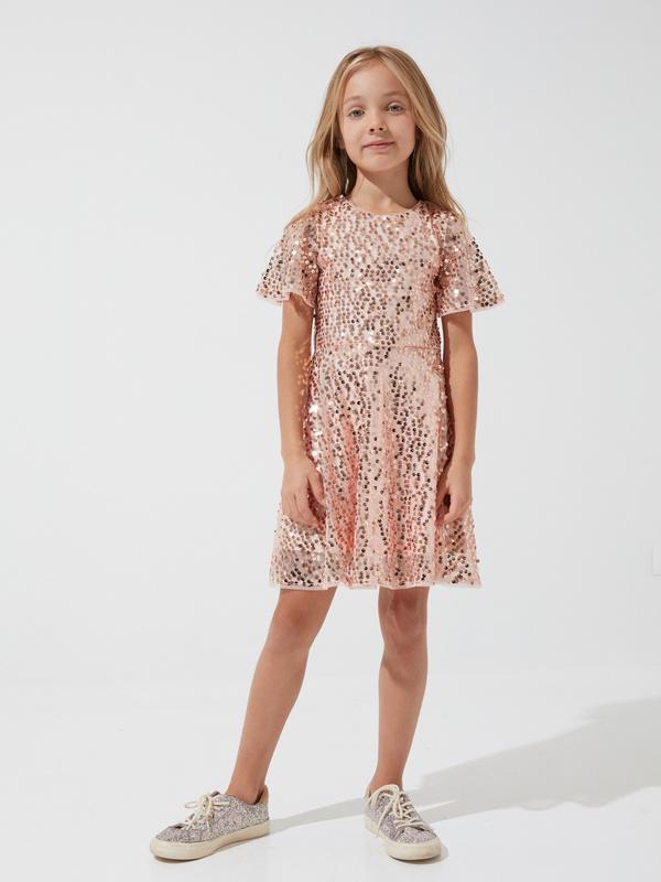 Платье для девочек с пайетками - фото 4