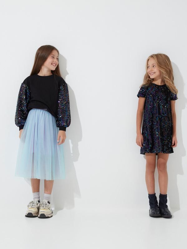 Платье для девочек с пайетками - фото 6