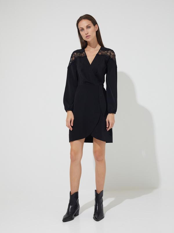 Платье-мини на запахе  - фото 5