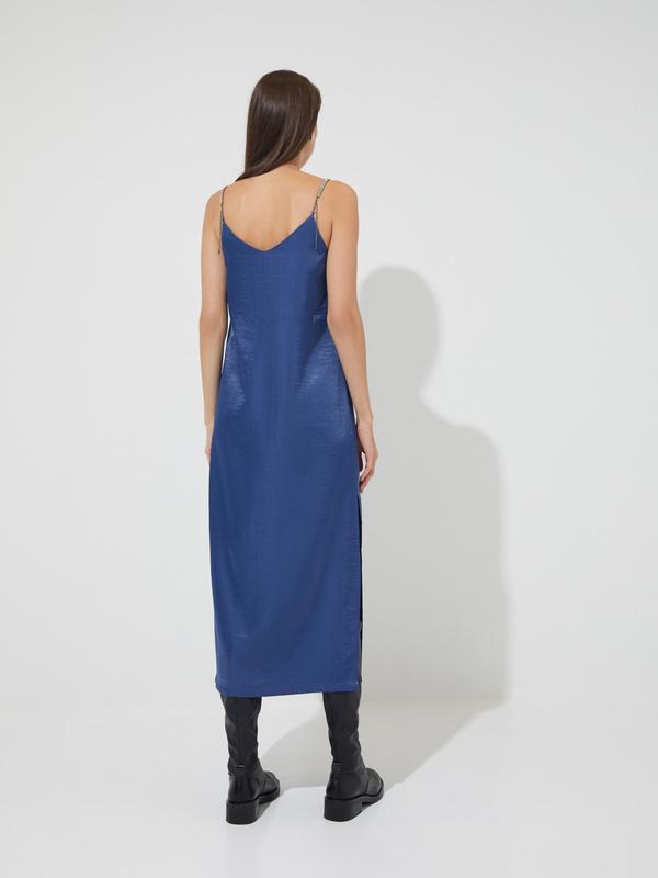 Атласное платье-комбинация - фото 6