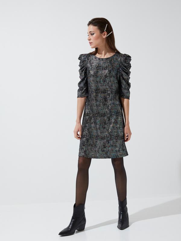 Платье-мини с напылением - фото 2