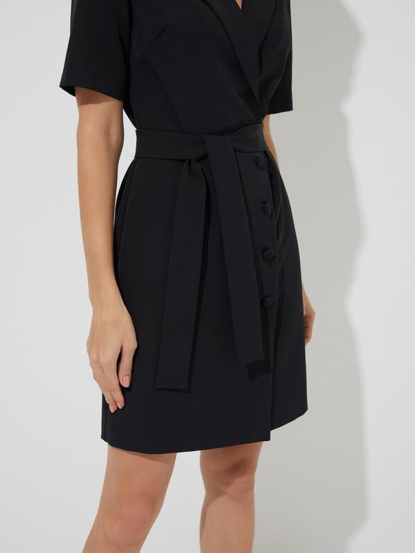 Платье-пиджак с поясом - фото 2