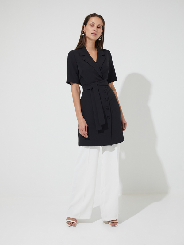 Платье-пиджак с поясом - фото 3