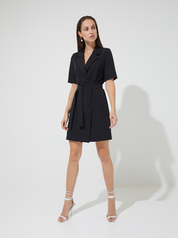 Платье-пиджак с поясом - фото 4