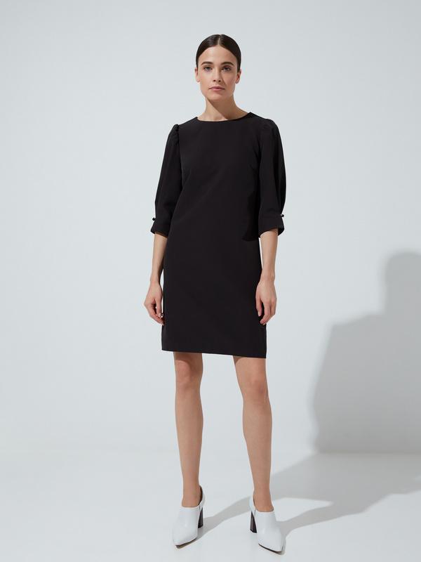 Платье прямого кроя с защипами на рукавах - фото 3