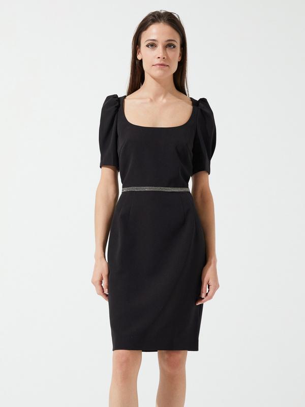 Платье-футляр с ремешком - фото 2
