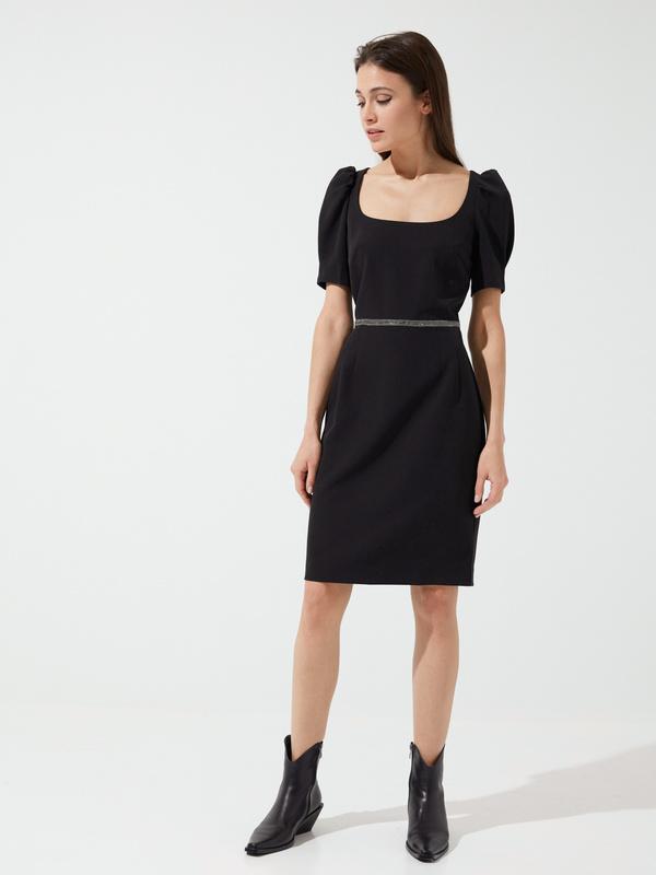 Платье-футляр с ремешком - фото 3
