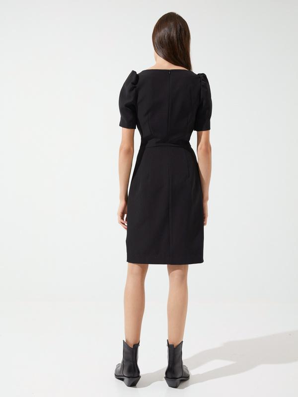 Платье-футляр с ремешком - фото 5