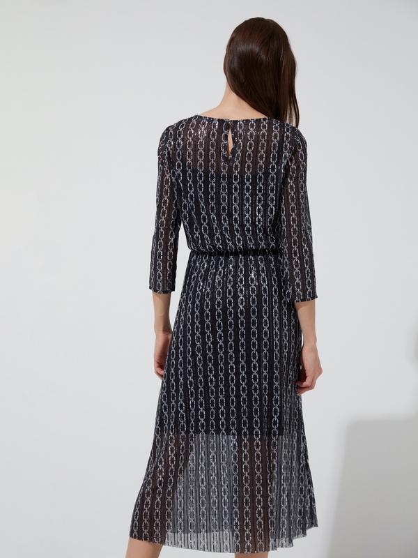 Сетчатое платье-миди с пайетками - фото 4