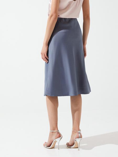 Расклешенная юбка в бельевом стиле - фото 4