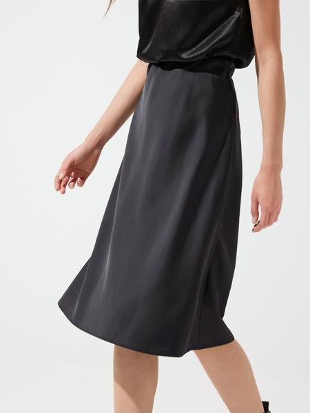 Расклешенная юбка в бельевом стиле - фото 2