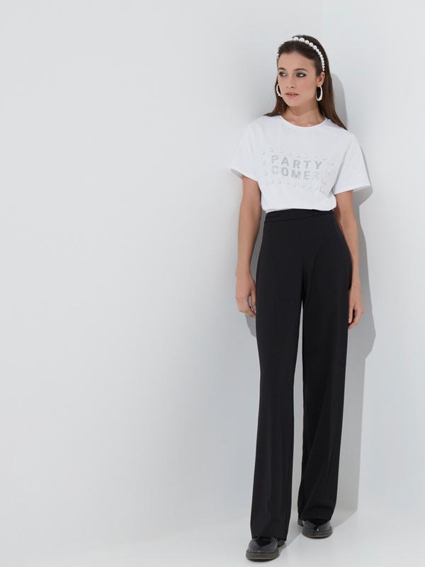 Широкие брюки со стрелками - фото 1