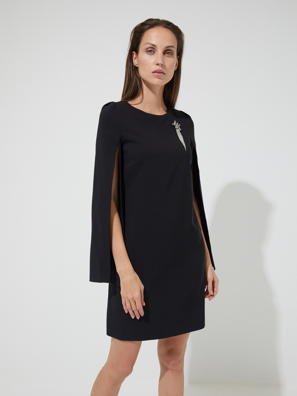 Платье-мини с прорезными рукавами - фото 1
