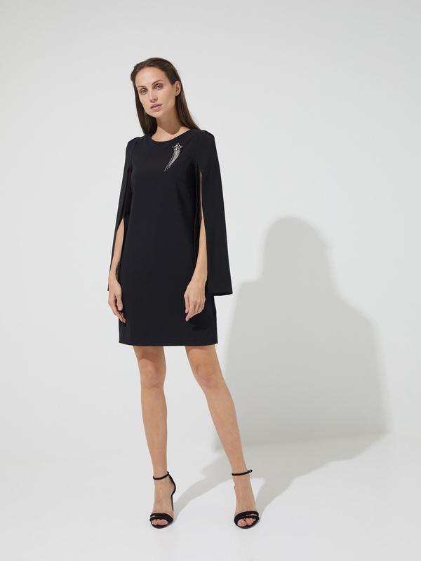 Платье-мини с прорезными рукавами - фото 3