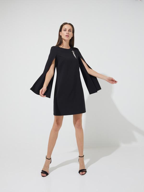 Платье-мини с прорезными рукавами - фото 4