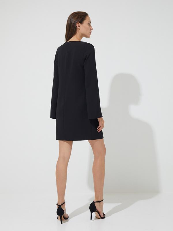 Платье-мини с прорезными рукавами - фото 5