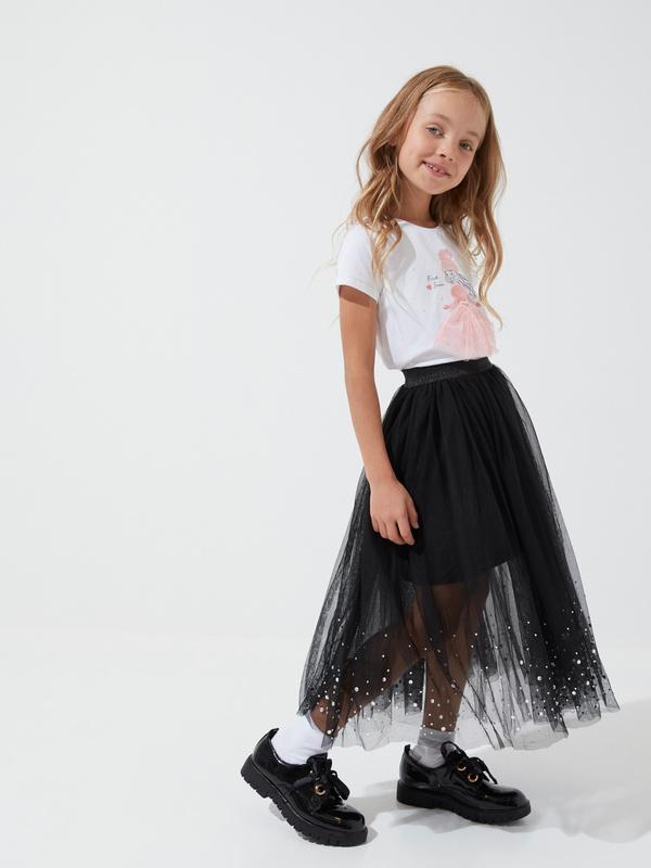 Пышная юбка из фатина для девочек - фото 1